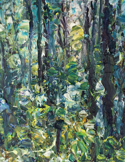 Jim Reid, Forest 24-8-13, 2013, acrylic on canvas, 18 x 18 inches