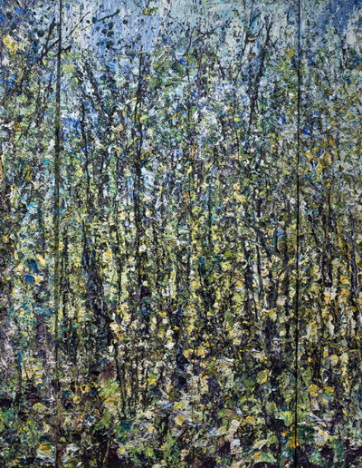 Jim Reid, Remnant of an Ancient Wilderness 20-9-11, 2011, acrylic on wood panel, 84 x 126 inches