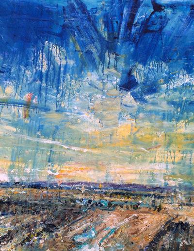 Jim Reid, Peel Plain 7-4-16, 2016, acrylic on canvas, 76 x 116 inches