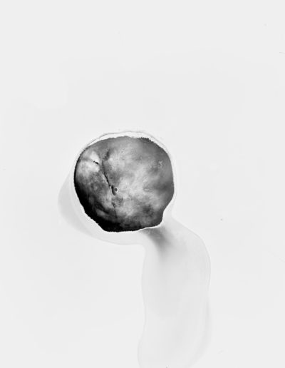 Osheen Harruthoonyan, Invisible Man With A Planet For A Head, 2016, split toned gelatin silver print, 21.5 x 18 inches (framed)