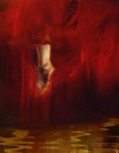 Joan Kaufman, Jump 3 (Unravelling Still), 2012, chromira print glossy box, 18 x 22 inches