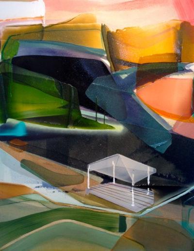 Patrice Charbonneau, Belvédère, 2016, acrylic on canvas, 40 x 33 inches (Private Collection)