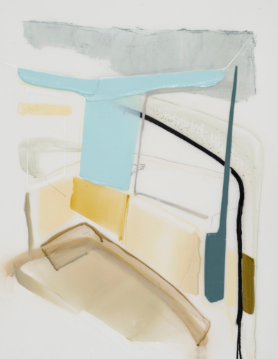 Patrice Charbonneau, Chambre, 2016, acrylic and crayons on mylar, 36 x 27 inches