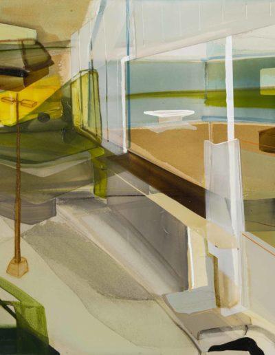 Patrice Charbonneau, Délimitation Contextuelle, 2016, acrylic on canvas, 36 x 48 inches