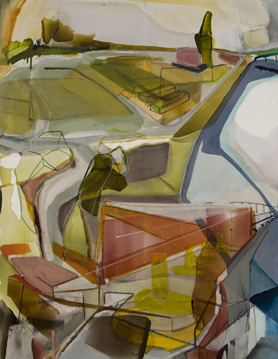 Patrice Charbonneau, Lot 1229 Et Turbines, 2013, acrylic on canvas, 57.5 x 42 inches (framed)