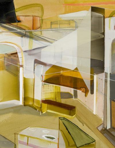 Patrice Charbonneau, Secousse Prolongée, 2016, acrylic on canvas, 36 x 48 inches