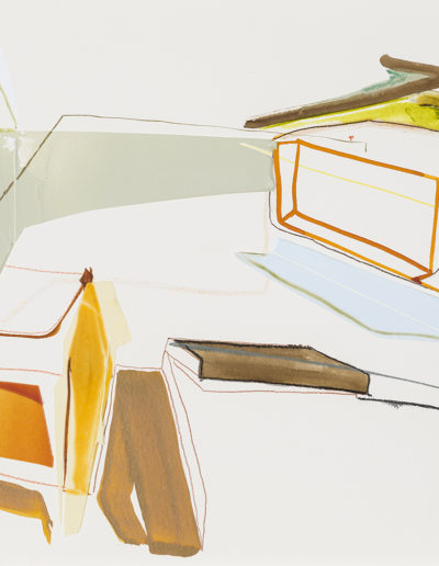 Patrice Charbonneau, Systeme Saissonier (Study), 2014, acrylic and crayon on paper 22 x 30 inches