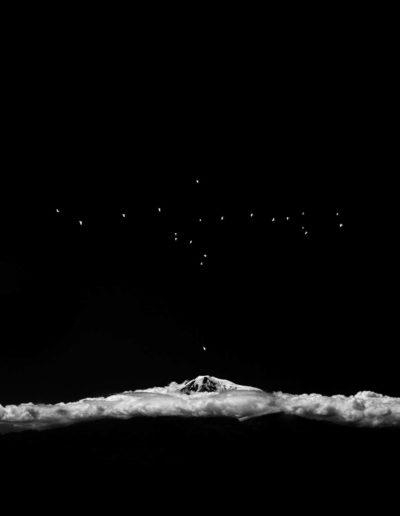 Osheen Harruthoonyan, Songs Above Ararat, 2016, split toned gelatin silver print, 14.5 x 14.25 inches (framed)