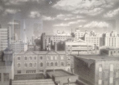 Steve-Fleury_City-Rooftops_2000_graphite-on-paper_61x74-inches