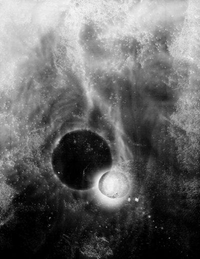 Osheen Harruthoonyan, Tunnel, 2013, split toned gelatin silver print, 25 x 20 inches (framed)