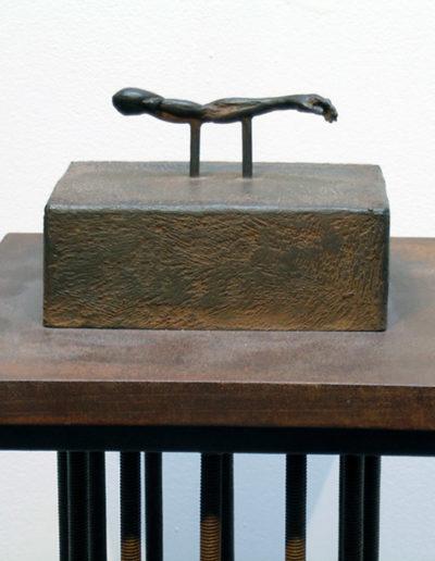 "Arm Study, bronze sculpture on steel base, 46"" x 9"" x 9"""