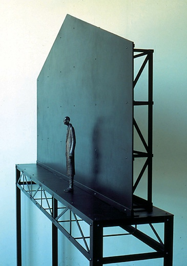 """Fabrication & Circumstance, 1996 Edition 1/1 Patinated Bronze, Steel, Wood, Mixed Media 77"""" x 75.5"""" x 12.5"""""""