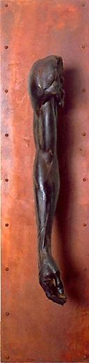 "Limb, 1997 Edition 1/5 Patinated Steel & Bronze 48"" x 12"" x 10"""