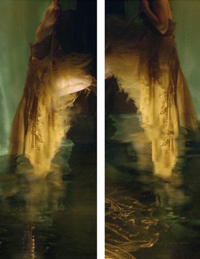 Joan Kaufman, Swing 5.1 (Unravelling Still), 2012, chromira print glossy box, 18 x 8 inches