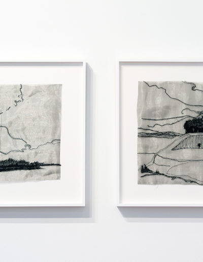 Liz Pead, Old Deer Scotland, Saskatoon Outskirts - Future West Proposed (Diptych View)