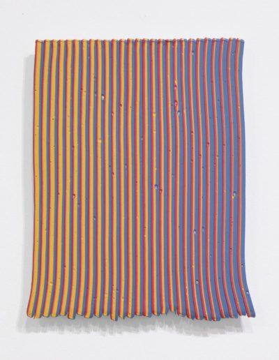 Robert  Davodovitz, RY/YB, 2018, acrylic on cradled birch panel, 12 x 10 inches (Private Collection)