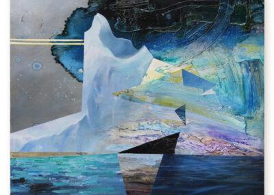 Phil Irish, Aurora's Berg, 2019, oil on aluminum, 24 x 30 inches