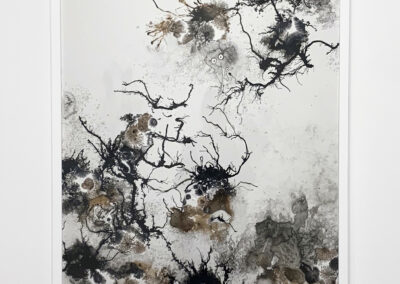 Xiaojing Yan, Naturally Natural Series, 2018 - 2019, sumi ink & acrylic on yupo paper, 36 x 24 inches (Installation View)