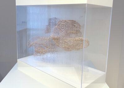 X.Xiaojing Yan, Spirit Cloud (Pink Mini), 2019, freshwater pearl, filament, aluminum, ed. 1/4, 20 x 22.5 x 10.6 inches (Alternative View)