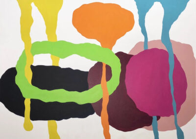 Mike Hansen, Chit Chat, 2018, acrylic on canvas, 48 x 60 inches